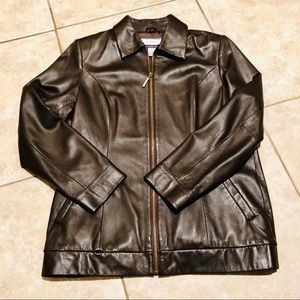 🎉🆕🎉 Preston & York Brown Lamb Leather Jacket